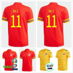 2020 2021 Wales soccer jersey 20 21 BALE ALLEN James Ben Davies Wilson camisetas national team home away man + kids football shirts