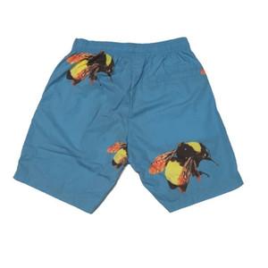Homens Moda Big Bee Print Designer Shorts High Street e mulheres casal Azul Pink Beach Hip Hop praia Shorts HFSSDK025