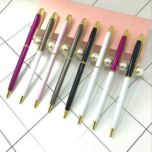 Bolígrafo de perlas grandes Bolígrafo de cetro de reina Bolígrafos de perlas de metal Suministros de escritura de la escuela de la oficina de la boda Regalo de la pluma de la firma de publicidad