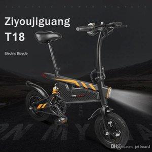 Livre de impostos e EUA ARMAZÉM em estoque, transporte livre ZIYOUJIGUANG T18 bicicleta elétrica dobrável bicicleta US