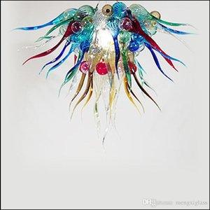 Art Декоративное Дизайнер УБИРАЕМОГО люстры из муранского стекла Spring Style Art Handmade выдувное стекло Подвесные светильники Искусство стекла Свет