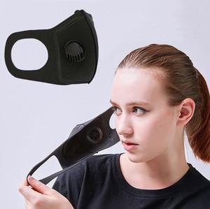 Черный Anti-Haze РМ2,5 Маска с дыхательным Valve Single Valve пылезащитных масок для лица Защитной крышки Губки маски для езды на велосипед