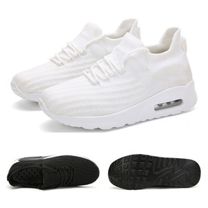 Nuevos deportes venta entera zapatillas de correr para mujeres de los hombres de malla transpirable zapatos de la aptitud blanco negro de deportes azul snaeakers tamaño 35-42 envío libre