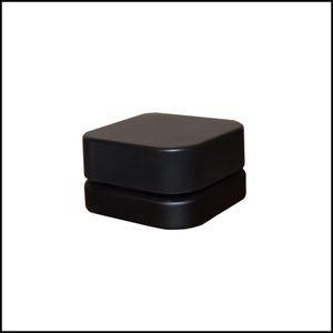 5мл Премиум Куб Стекло Concentrate Jar с младенцем Устойчив Lid Квадрат Черного Белого цвета густого масла Dab Контейнер Бесплатной доставкой