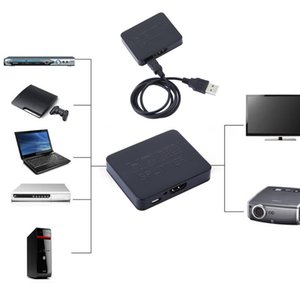 50PCS LOT Free shipping 1080P 3D 4K HDMI Splitter Switcher 1*2 1 Input 2 Output for DVD Player HDTV