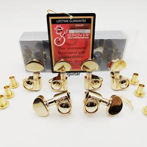 Originale oro in linea Grover stringa della chitarra spine di sintonia sintonizzatori testa della macchina professionale durevole la testa per buona LP chitarra 3R + 3L