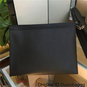 Mens New 2020 Clutch Bag Marca de Higiene Pessoal Bolsa Bolsas Wash Bag compo a caixa Couro Homens BagsBrand ensaca bolsas zippy 27cm M61692 N41696
