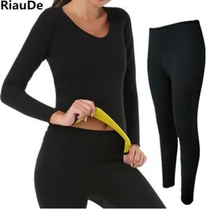 Women Body Shaper Long Pants Tops Neoprene Super Stretch Control Slimming Waist Shirt Sweat Sauna Shaperwear DropShipping Corset T200702