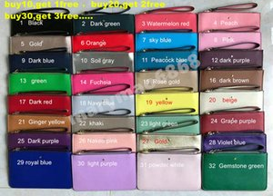 32 colori del progettista di marca portafogli da polso donne portamonete moneta borse frizione cerniera pu design borsa di lusso fabbrica