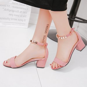 Marchwind Metal String Bead Summer Women Sandals Open Toe Shoes Women's Sandles Square Heel Women Shoes Korean Style Gladiator Shoes