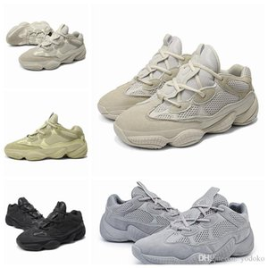 2019 Nova Sal 500 Kanye West Casual Shoes Homens desenhista calça Super lua amarela Blush Rato de deserto 500 Formadores Sneakers