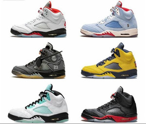 Con la scatola high-top scarpe da basket Sneakers nike air jordans Jordan 5 5s Uomini Donne professionale Street Basketball Combat Training Gym ShoesQwgw #