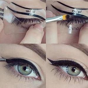 بطاقات DHLClear Eyeliner Eyebrow Shaper Makeup الإستنسل