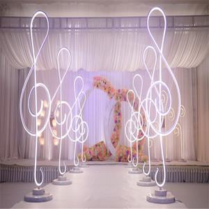Nova altura da chegada 110 centímetros Nota Musical forma de casamento Colunas romanas levou luz estrada até chumbo peça central do casamento partido do evento estágio decoração