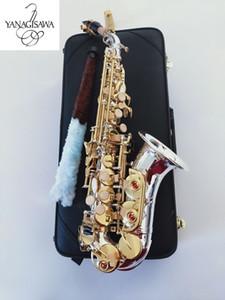 Yanagisawa marcas curvo Saxofón Soprano S-992 Plateado Latón Sax Boquilla desempeño profesional del envío