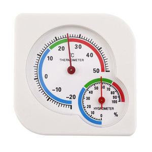 Indoor Outdoor Square double dial Thermometer Hygrometer thermometer humidity meter inductive pointer -20C-50C 42%off
