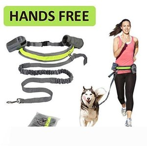 Pet Dog Leash Hands Free Cat Running Jogging Padded Waist Belt Reflective Strip Elastic Leash Perfect Walking Training Dog Leash Set