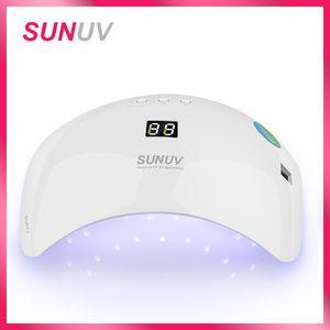Sunuv Sun8 Levou Prego Secador 48 w Lâmpada Para Manicure Único Modo de Baixo Calor Unhas de Gel Secador Para Nail Polish Art Ferramentas J190713