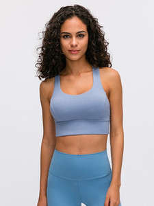 LU-46 free To Be Serene Sling Zen Bra Long Line Enlite Yoga Vest Zip Front Mesh High Support A-E Cups Workout Gym Backless Lady Underwear
