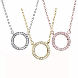 ZTUNG PDN2 klassische 925 Sterling Silber 50cm Halskette mit Anhänger hochwertigen Schmuck einzigen Kreis passt Pandora Anhänger Halskette