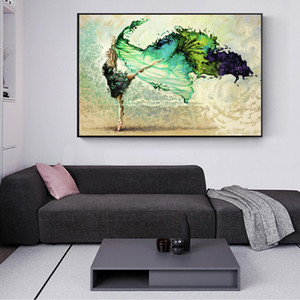 Modern Ballet Girl Abstract Dancer Girl Home Wall Art Decor Handpainted HD Print On Canvas Wall Art Canvas Pictures 190908