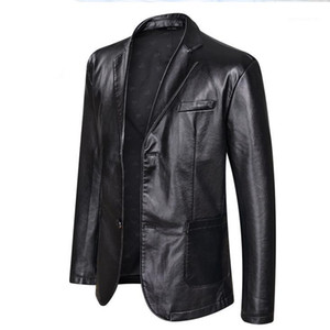 Jacket 5XL 6XL Plus Size Mens Big PU Leather Jackets Casual Single Breasted Clothing Coats Designer