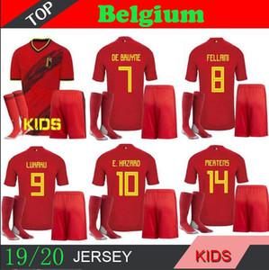 Бельгия в Бельгии Де Брейне главная футбол трикотажные 2018 2019 2020 детский комплект Азар Лукаку футбол футболка camiseta футбол рубашки Компани дембелей Майо