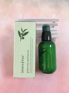 Dropshipping INNISFREE Green Bottle CREMA EL Suero de semilla de té verde Hidratante Cuidado facial Loción 80ML Nueva crema facial para el cuidado de la piel