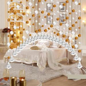 cortinas de cristal 1PC Crystal Glass Bead Cortinas Porta Sala Quarto janela da porta para decoração do casamento 2O1213