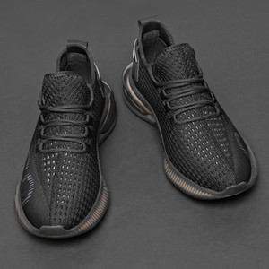 Flying woven air shoes, men's new summer casual shoes, breathable running shoes, fashion and trendy shoes