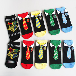 Harry Potter Sihirli Çorap Çiftler Pamuk Çorap Cartoon Art Cosplay Tie Çorap Moda Spor Kısa Çorap Unisex Düşük çorap FFA3309 lehine
