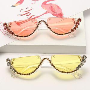 Fashion diamond sunglasses shades women sun glasses sunglass cat eye eyeglass Girls eyeglasses eyewear lunettes de soleil de l uv400 NEW