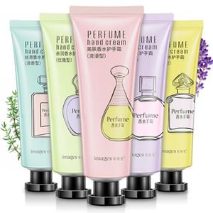 9 pièces / lot 30g crème pour les mains de parfum d'image hydrate hydrate rafraîchit et hydrate les mains pour éviter le dessèchement et le pelage