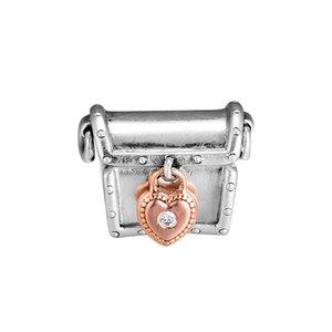 2019 Day 925 Sterling Silver Pendant Beads Charm di San Valentino Magic Box Club lucchetto set adatto per Pandora Bracciale Gioielli fai da te