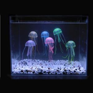 Swim artificial brillante efecto de medusas acuario de pescados de la decoración del tanque submarino vivo Planta luminosa ornamento paisaje acuático