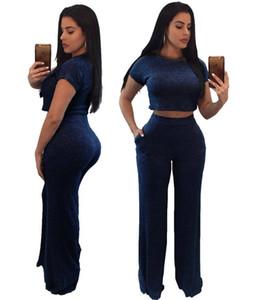 Womens Designer 2Pcs Sets Sexy Normallack-dünne Frauen 2 Stück Hosen-Sommer-Frauen schließen Hülsen-beiläufige Frauen-Kleid
