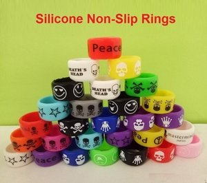 Colorful Silicone Vape Bands Rings Decorative Ring For RDA RTA Tank Atomizer E Cigarette Mods eGo Battery Non-Slip Resistance Vape Band