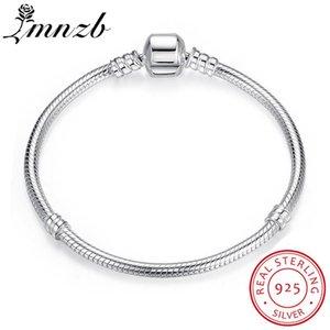 Lmnzb original del 100% del sólido 925 cadena de plata esterlina de 20 cm de largo de la serpiente de boda joyería pulsera brazalete para las mujeres Regalo Lb005 J J 190429 190430