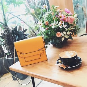 Luxurious2019 Briefcase Two-sided Three-colour Genuine Leather Cowhide Single Shoulder Messenger Woman 24 Hour Package Trend