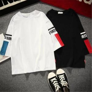 2019 년 여름 신품 캐주얼 남성 캐주얼 셔츠 t 셔츠 프린트 하라주쿠 tshirt 남성 학생 커플 streetwear 티 셔츠 blusa masculina