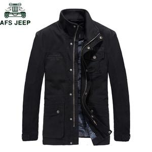 AFS Brand Jacket Men Cotton Plus Size 5XL 6XL Stand collar Casual Mid-long Mens Tactical jacket Coat blouson homme