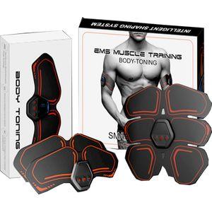 Estimulador muscular eléctrico tóner abdominal cuerpo forma masaje parche pantalla digital Bull Demon King Unisex para envío gratis