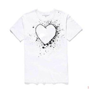 Men Designer T Shirt Fashion Summer New Brand Tshirts Luxury Tshirt Short Sleeve Tees Heart Print Funny Top Tees28 LR200537