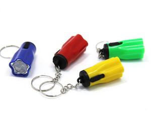 Пластиковые Led Flsahlights Super Mini Tazer с Key Ring Портативный Для Открытый Туризм Отдых на природе Факел Цветок Лепесток Форма конструктора Y0017