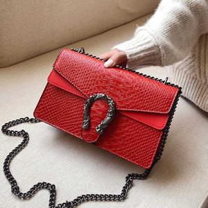 Snake piccola pelletteria Borse Crossbody per le donne 2020 Animal Print Shoulder Bag Messenger signore di viaggio della borsa della catena