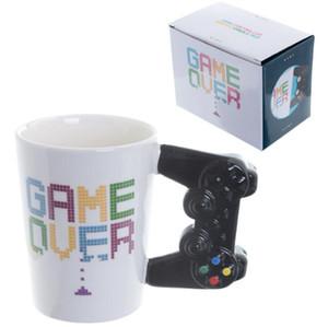1Pc Game Over Coffee Mug 3D Game Controller Handle Office Coffee Ceramic Cup Mug Nerd Mug Gameboy Gamer Gift PS4