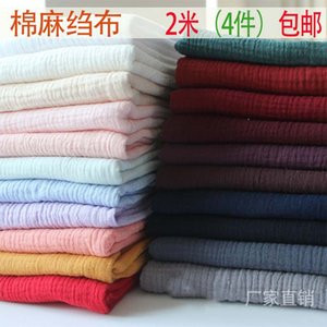 100 * 135cm Frack Drappe Cotton and Linen Crepe Baby Clothes Fysis Girl Sleepwear Fabrics D30
