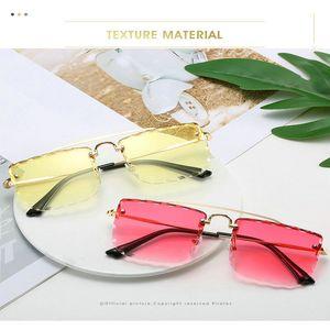 Double Beam Trimmed Square Sunglasses Sunglasses men Double Beam Metal Frame Toad Lens Female Shades Brand Designer Me WomenSunglasses Mto6X
