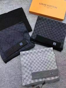tappi migliori designer della sciarpa del cashmere sciarpe alla moda di alta qualità Cappello di lana lussuoso set di spessore cashmere scarves1 GY7