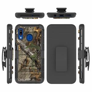 6.4inch Pour Samsung Galaxy A30 Hybrid Case Heavy Duty 3in1 Camo militaire dur anti-choc Ceinture cas Clip couverture de cas